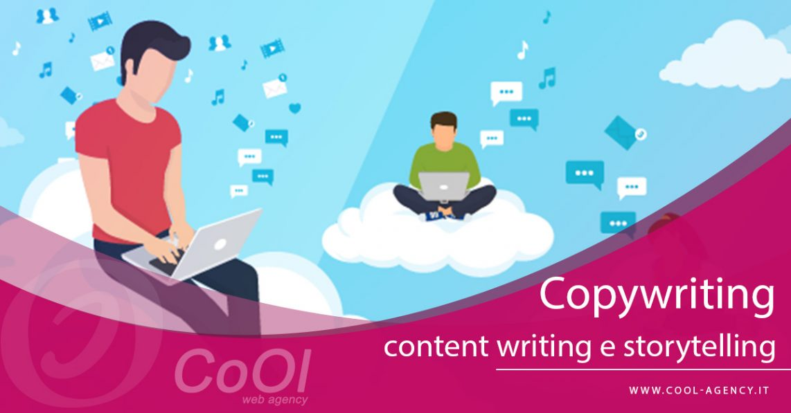 Copywriting, content writing e storytelling